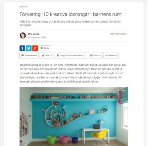 Smart förvaring barnrum