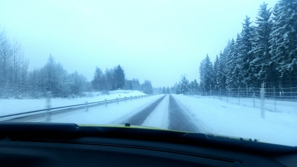 Underbar snöbild från vägarna idag